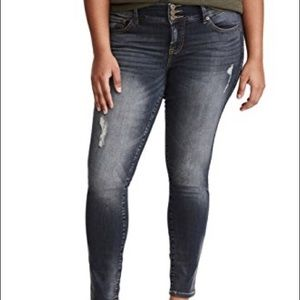 High Waist Distressed Skinny Jeggings (Extra Tall)